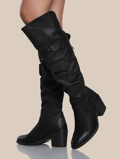 Slouchy Oversize Boots BLACK
