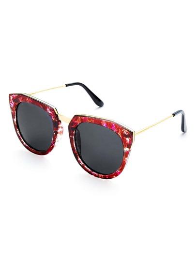 Chunky Frame Cat Eye Sunglasses