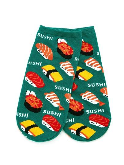 Socquettes imprimé sushi