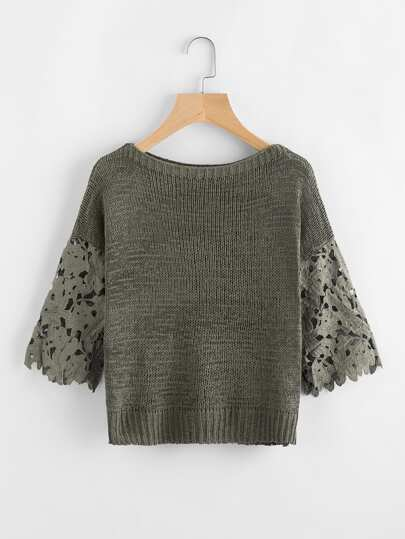 Sweater creux en crochet
