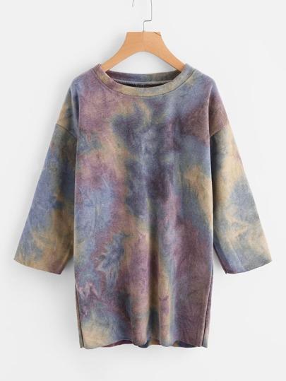Sweatshirt Kleid mit Wasserfarbe