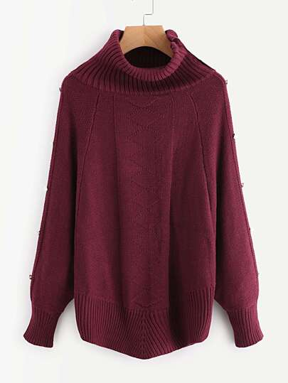 Mixed Knit Button Detail Jumper