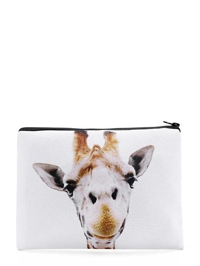 Poche d\'accessoire imprimée de la girafe