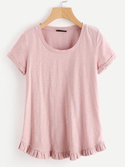 T-Shirt mit Raffung