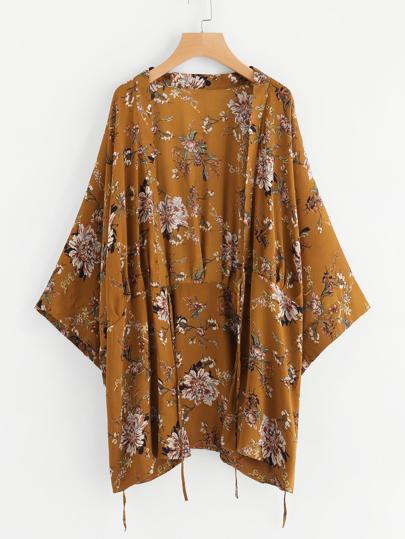 Kimono imprimé plante