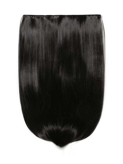 Trama de pelo recto marrón oscuro