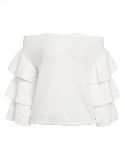 Bardot Pullover mit mehrlagigen Raffungärmeln