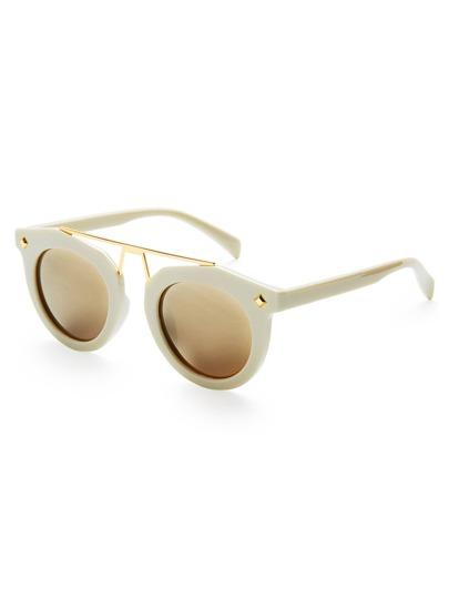 Gafas de sol con barra superior y lente plano