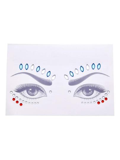 Pegatinas para los ojos con pedrería