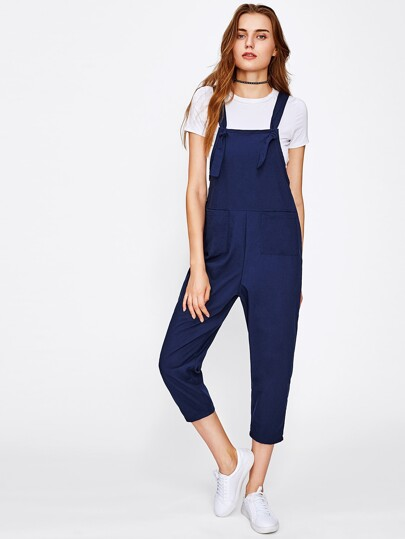Dual Pocket Overall Pants