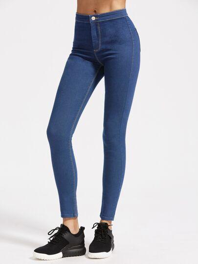 Tobacco Stitch Schmale Jeans