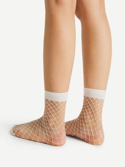 2 pares de calcetines en rejilla