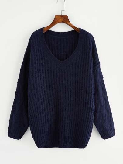 Drop Shoulder Chunky Knit Jumper