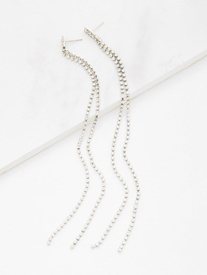 Long Chain Design Drop Earrings