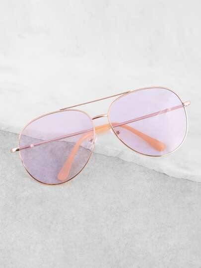 Colored Double Bar Sunnies PURPLE