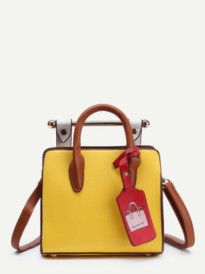 Piping Detail PU Shoulder Bag