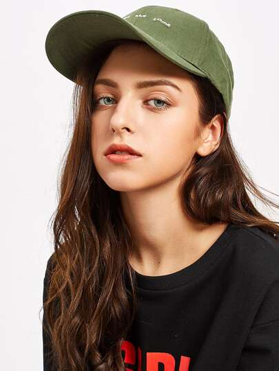 Slogan Embroidery Baseball Cap