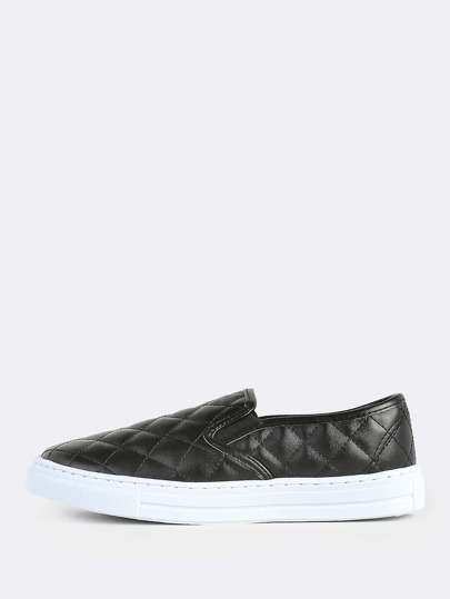 Slide On Cushion Pattern Sneakers BLACK