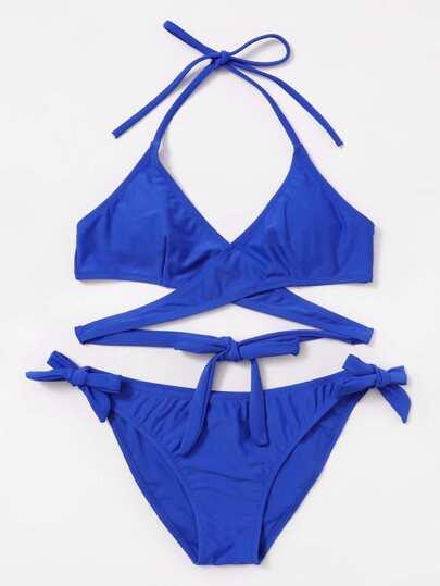 Tie Side Wrap Bikini Set