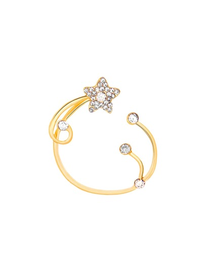 Rhinestone Star Design Ear Cuff 1pc