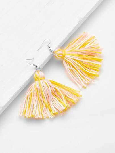 Charm Tassel Drop Earrings