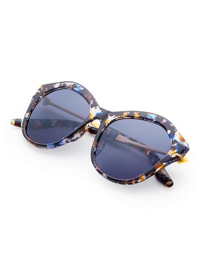 Gafas de sol con montura de acuarela