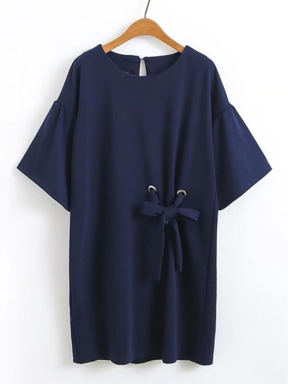 Bell Sleeve Bow Tie Dress