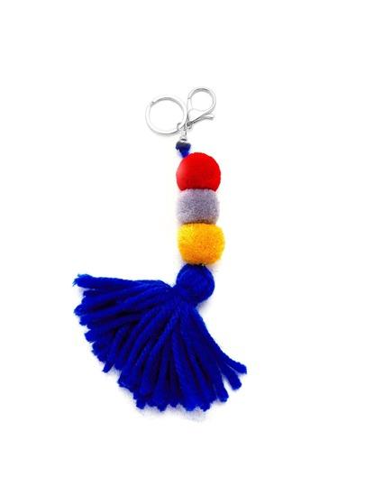 Pom Pom & Tassel Keychain
