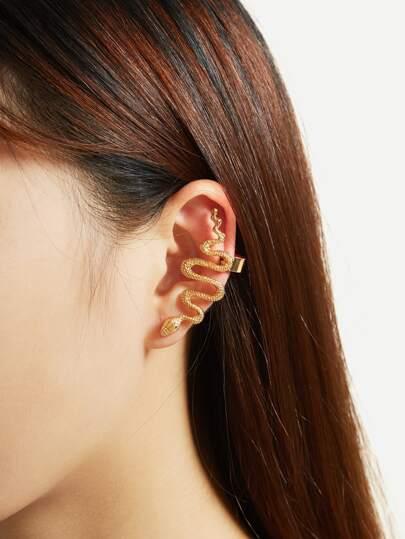 Boucles d\'oreille design de serpent métallique 1 pièce