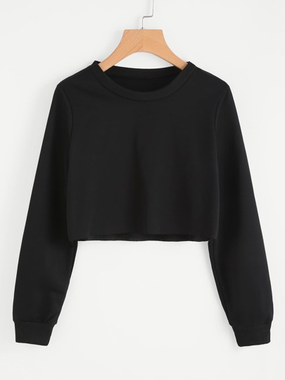 Grundlegendes Crop Sweatshirt