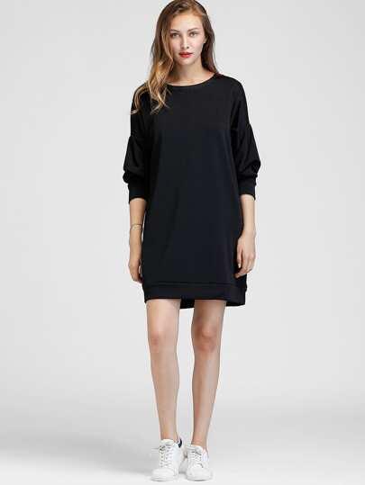 Sweat-shirt robe avec la chute de l\'épaule
