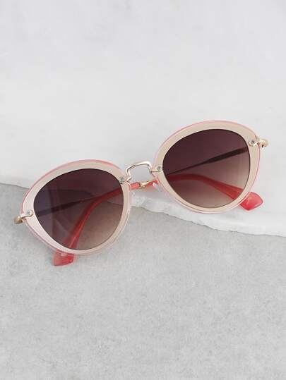Metallic Cat Eye Sunnies PINK
