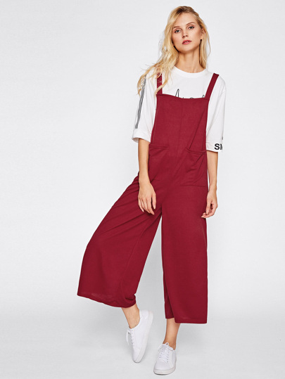 Symmetry Pocket Front Wide Leg Jumpsuit