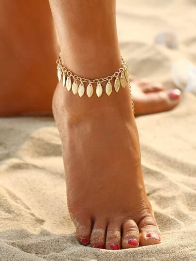 Festival Drop Charm Chain Anklet