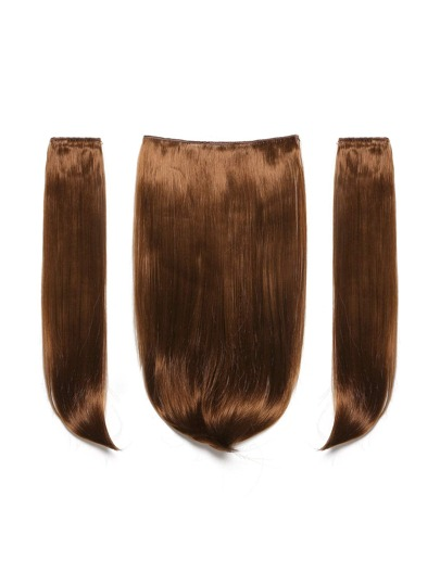 Golden Brown Clip In Straight Hair Extension 3pcs
