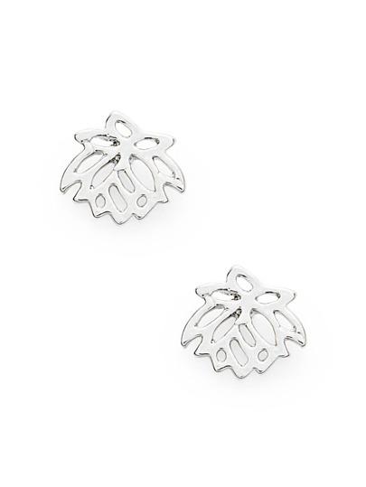 Boucles d\'oreille en forme de lotus creux