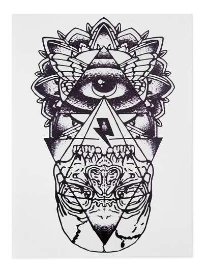 Pegatinas de tatuaje con estampado geométrico
