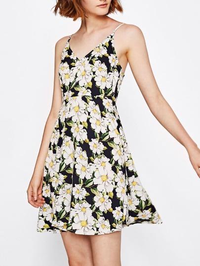 Flower Print Cami Dress