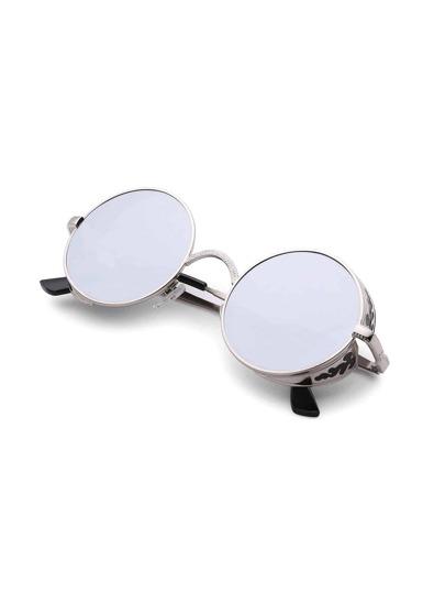 Round Lens Retro Sunglasses