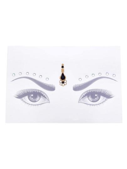 Pegatinas con ojos de piedra preciosa