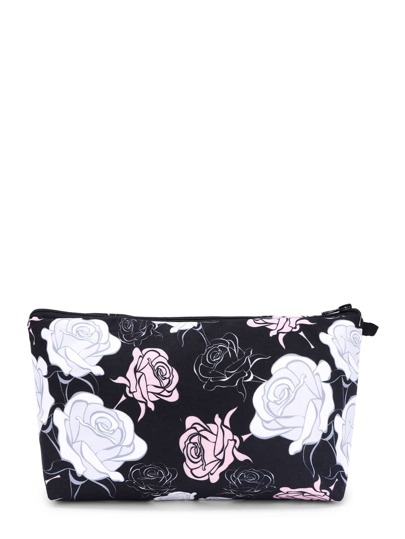 Trousse de maquillage imprimé rose