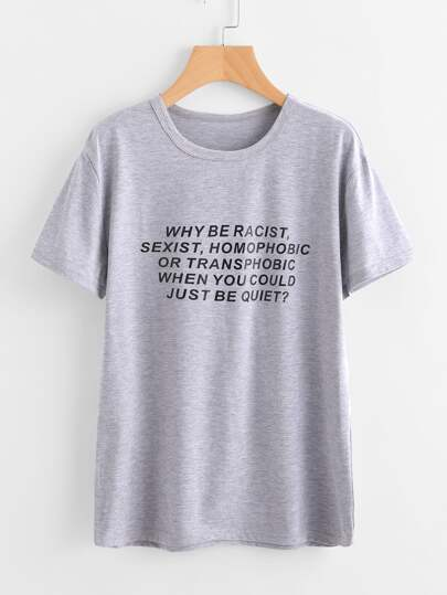 Tee-shirt imprimé de la phrase