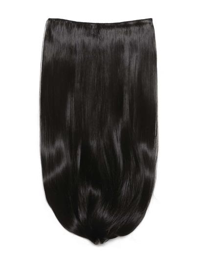 Extensión de pelo recto largo negro natural