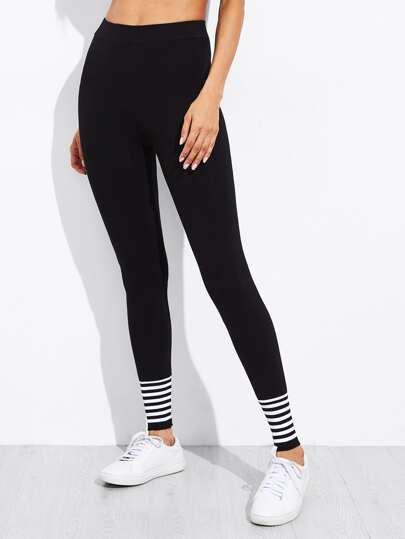 Leggings a strisce simmetrico