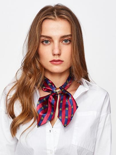Контрастный атласный шарф