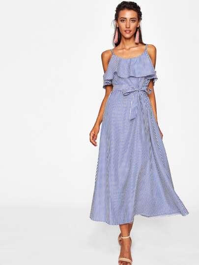 Vestito a strisce verticale