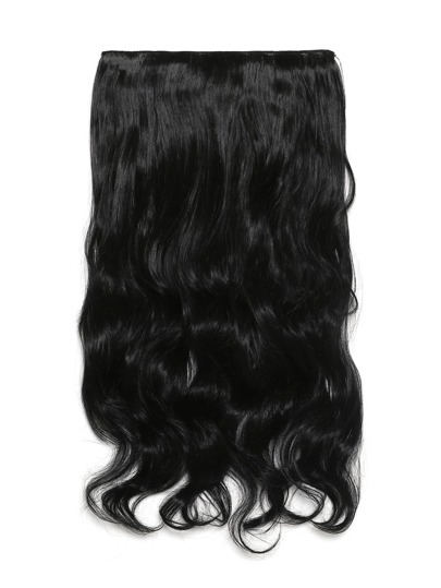 Extensión de pelo ondulado suave negro
