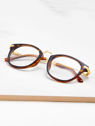Leopard Frame Clear Lens Glasses