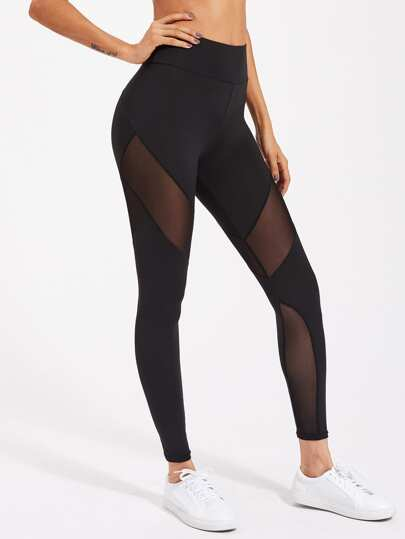 Leggings à maille avec le zip