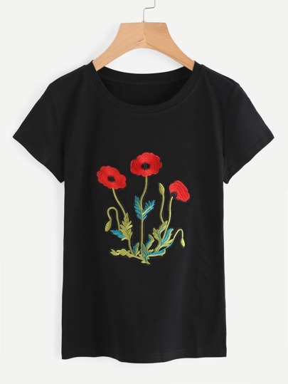 Embroidered Applique Tee